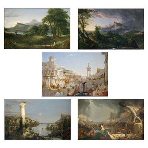 The Course of Empire Prints Set of 5