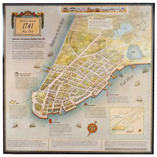 Map Of New York Poster.1741 Story Map Slavery Poster