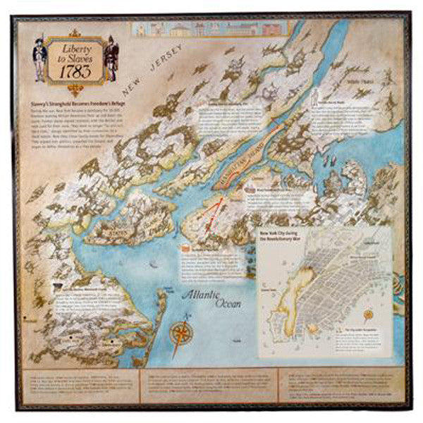 1783 Story Map Slavery Poster - New-York Historical Society Museum Store