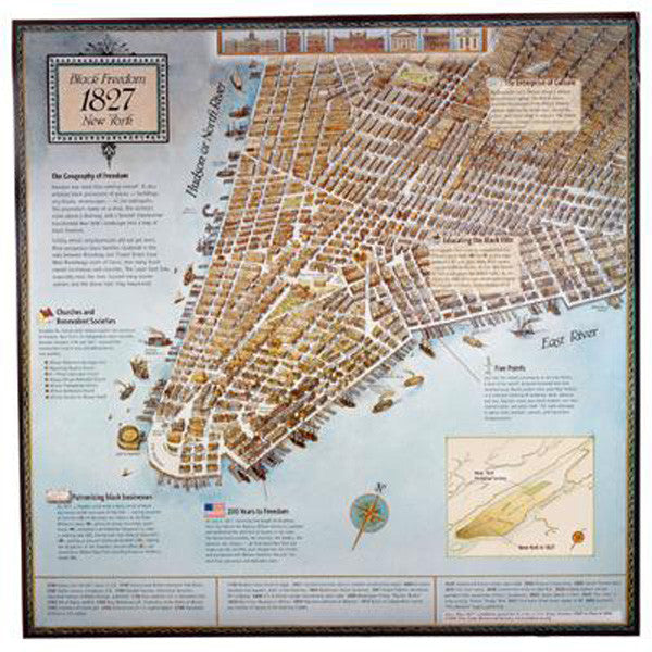 1827 Story Map Slavery Poster - New-York Historical Society Museum Store