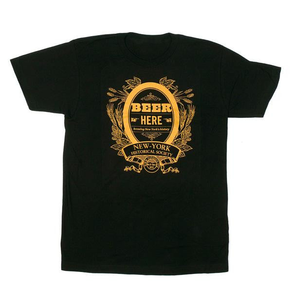 Beer Here Men's T-Shirt - New-York Historical Society Museum Store
