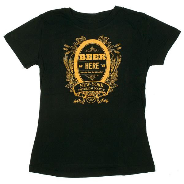 Beer Here Ladies T-Shirt - New-York Historical Society Museum Store