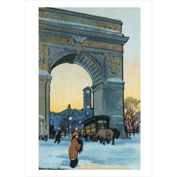 Washington Arch at Winter Twilight Note Cards