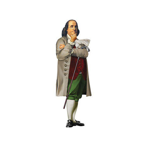 Benjamin Franklin Die-Cut Notecard
