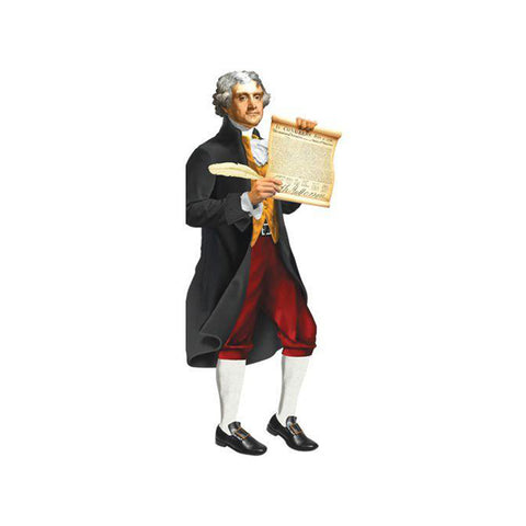 Thomas Jefferson Die-Cut Notecard
