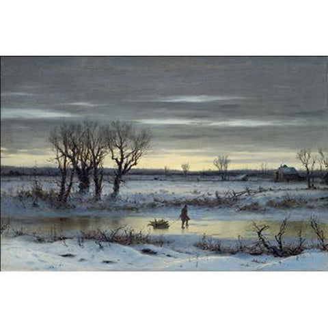 Winter Twilight Near Albany, NY Oppenheimer Print