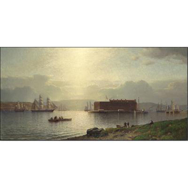 The Narrows and Fort Lafayette, Ships Coming Into Port, New York Harbor Oppenheimer Print