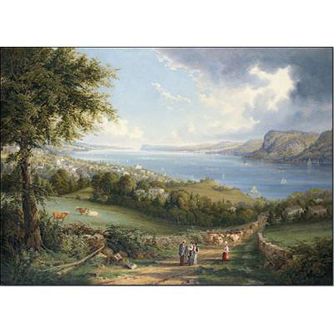 View of the Hudson River from Near Sing Sing, NY Oppenheimer Print