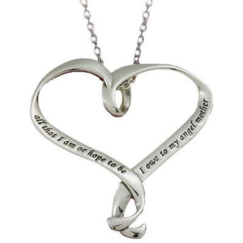 Lincoln Ribbon Heart Necklace