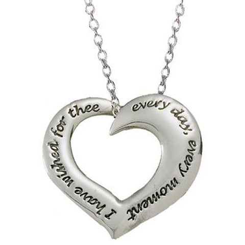 Audubon Embracing Heart Necklace