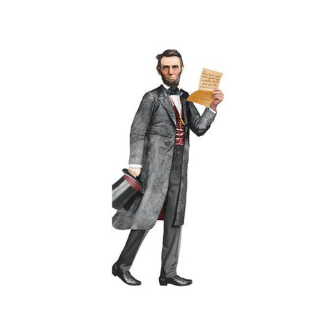 Abraham Lincoln Die-Cut Notecard