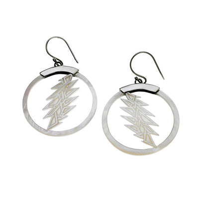 Grateful Dead Lightening Bolt Earrings