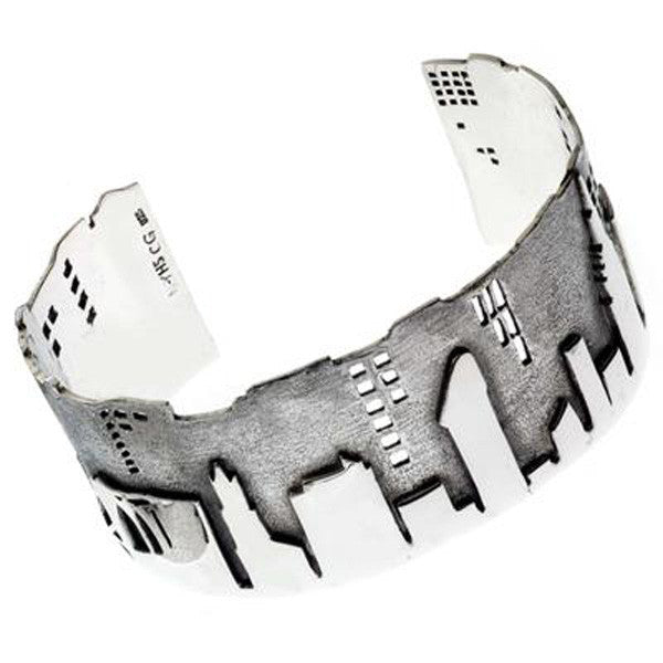 City Skyline Sterling Silver Bracelet - New-York Historical Society Museum Store