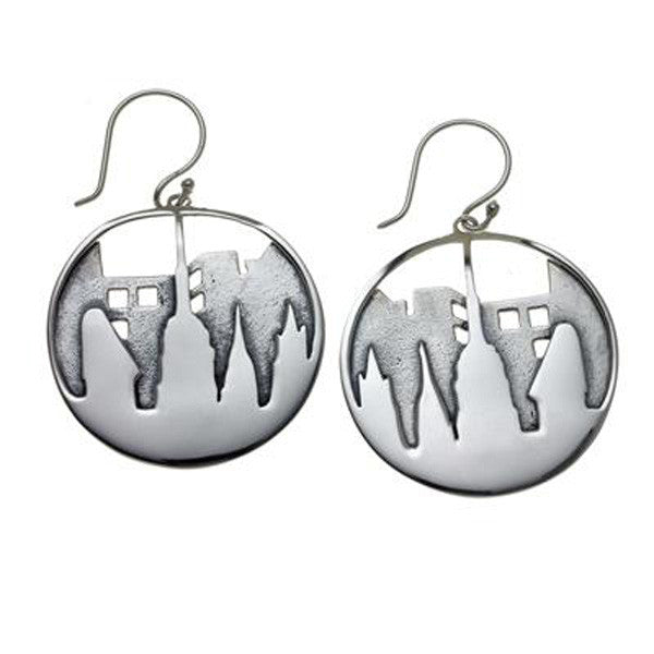 City Skyline Sterling Silver Earrings