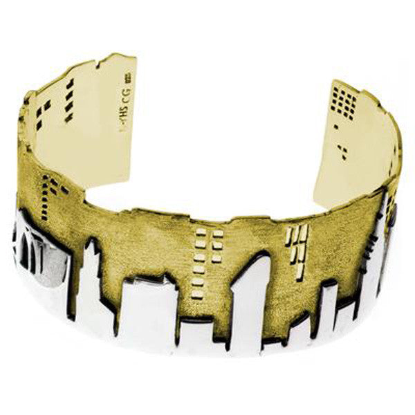 City Skyline Brass & Sterling Silver Bracelet