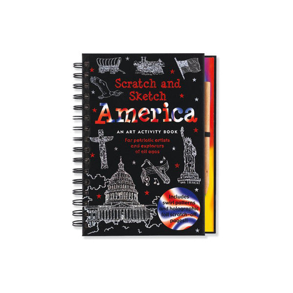 America Scratch and Sketch: An Art Activity Book for Adventurous Artists and Explorers of All Ages (Scratch & Sketch) - New-York Historical Society Museum Store