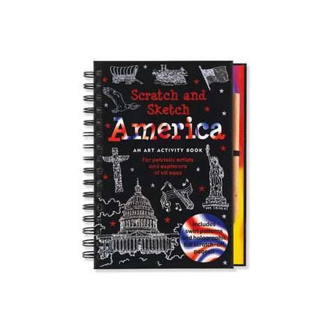 America Scratch and Sketch: An Art Activity Book for Adventurous Artists and Explorers of All Ages (Scratch & Sketch)
