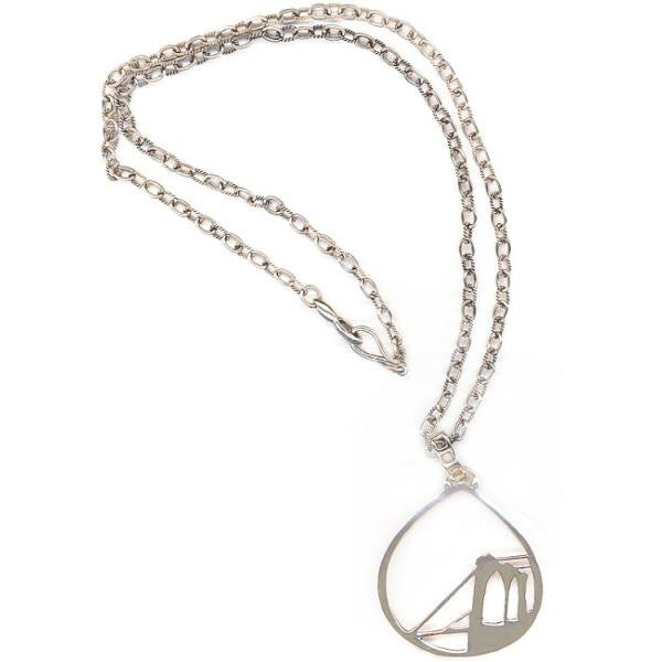 Brooklyn Bridge Sterling Silver Necklace - New-York Historical Society Museum Store