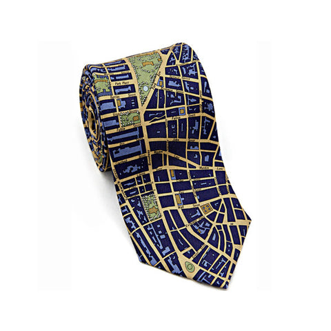 New York Civitas Tie Navy/Gold