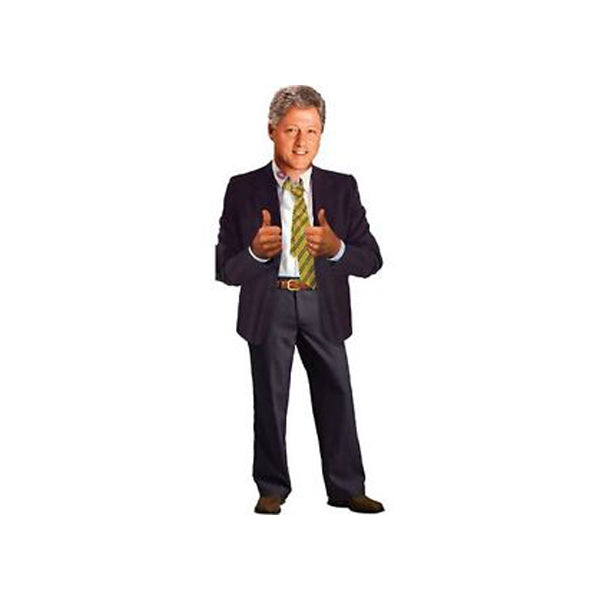 Bill Clinton Die-Cut Notecard - New-York Historical Society Museum Store