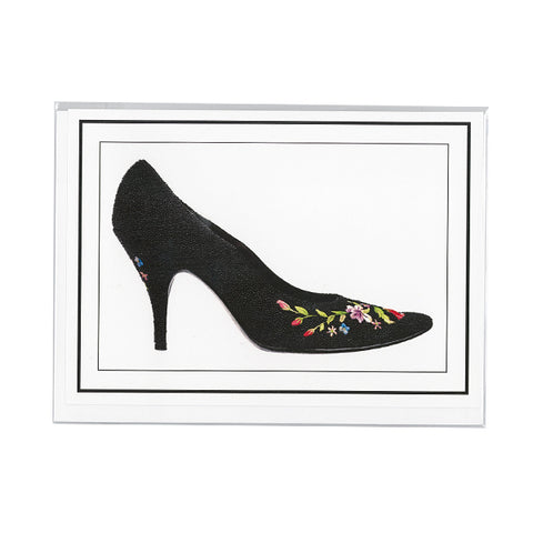 Black pumps notecard
