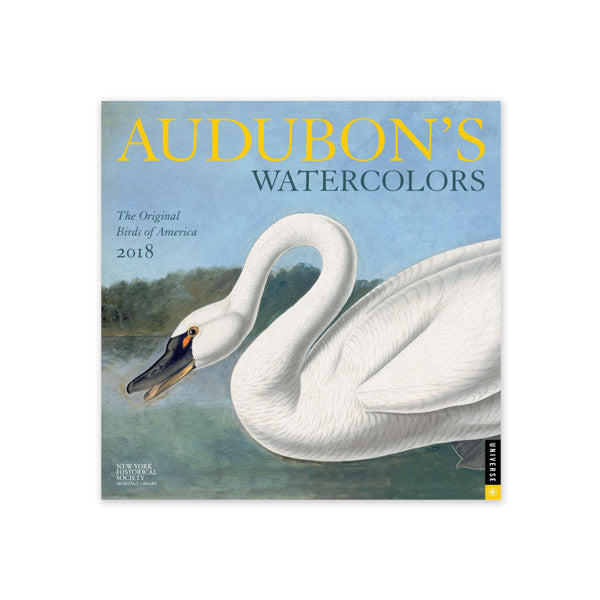 2018 AUDUBON'S WATERCOLORS WALL CALENDAR