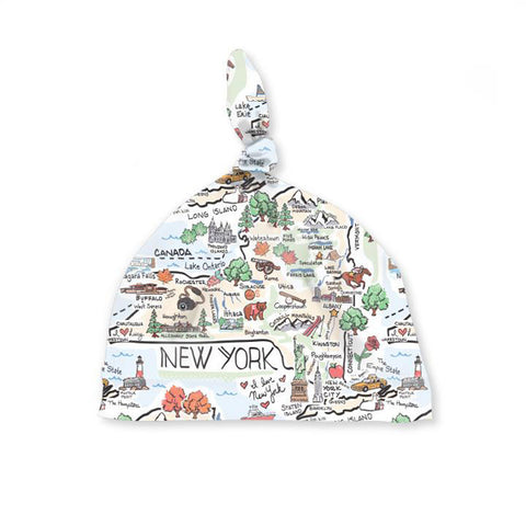 New York Map Baby Hat
