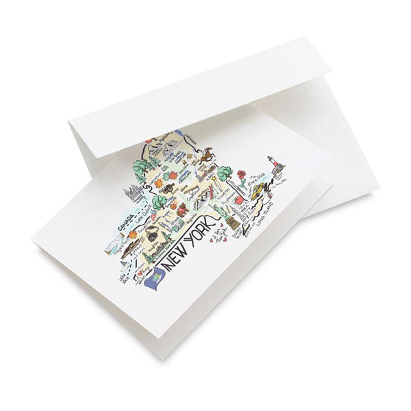 New York Map Note Card