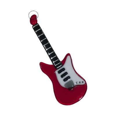 Electric Guitar Glass Ornament