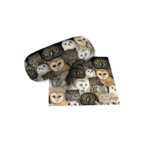 A Parliament of Owls Eyeglass Case