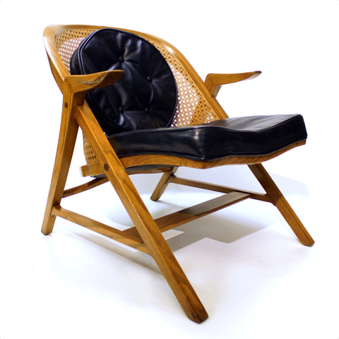 Rare Mid-Century Modern 5700-A A Frame Lounge Chair by Edward Wormley for Dunbar