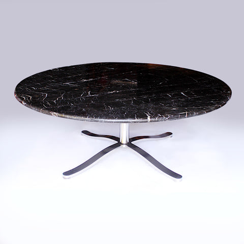 Mid-Century Modern Round Marble Alpha Dining Table by Nicos Zographos