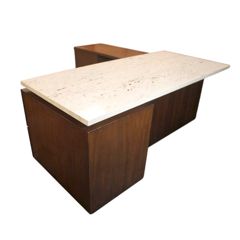 Mid Century Modern Terrazzo Top Executive Desk From Playboy Offices In  Chicago