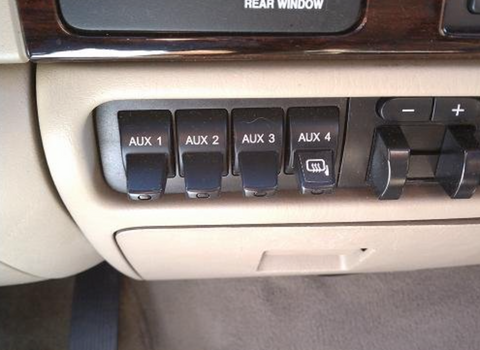 How to wire your light bar to your Ford auxiliary switches
