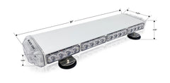 New- 20 Inch Mini Emergency Light Bar, TIR Optics