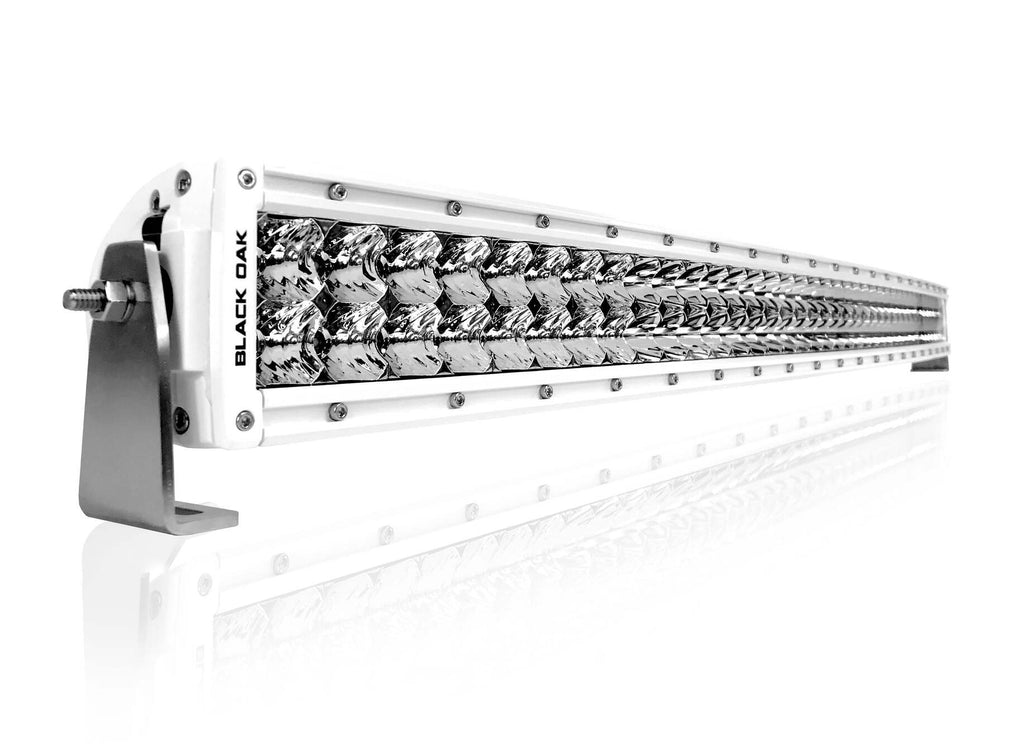 New - 40 Inch Marine Curved: Black Oak LED Pro Series 2.0 Double Row LED light bar - Combo, Spot, or Flood Optics (240w/400w)