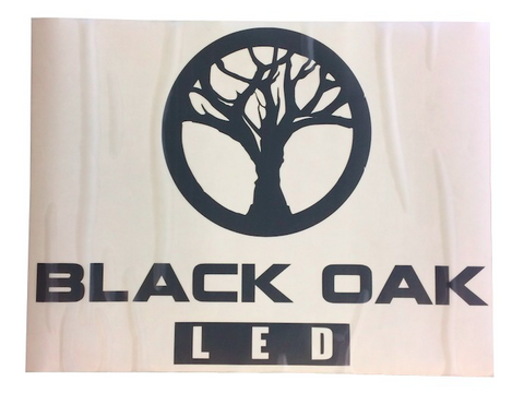 Large Black Oak LED Decal