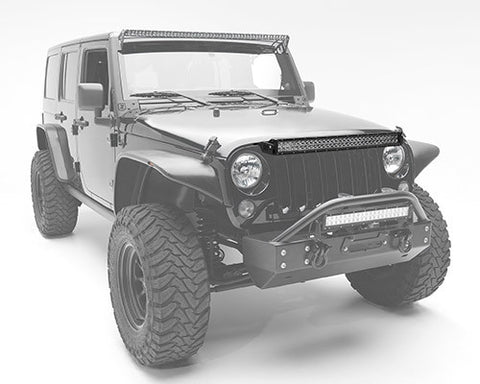 "(07-17) Jeep JK - 30"" Double Row Upper Grille Mount Kit"