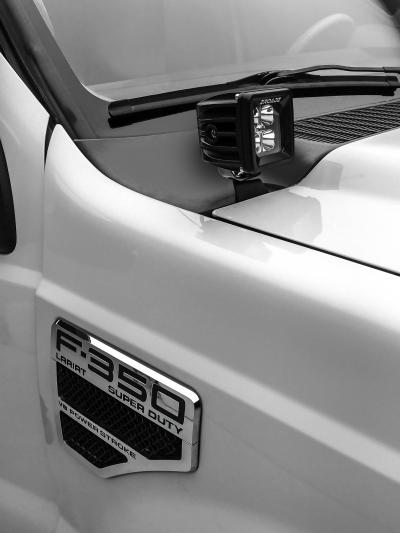 (11-16) Ford F250/F350 - Hood Hinge Ditch Lighting Kit- 2 Pods