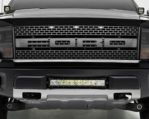 Ford raptor light bars ford raptor light kits 10 14 ford f150 raptor 20 double row bumper mount kit aloadofball Choice Image