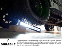 New - 6 Inch Single Row: Black Oak LED Pro Series 2.0 LED Light Bar - Spot, Flood, or Combo Optics