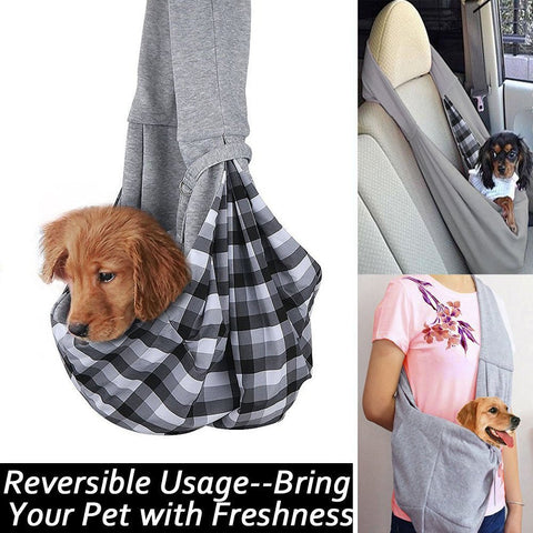 Flannel Over The Shoulder Pet Carrier