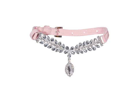 Pink Jeweled Collar