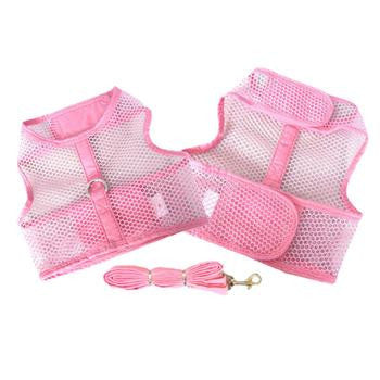 Pink Cool Mesh Dog Harness
