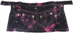 Pink Denim Glitter Skirt