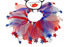 Red, White and Blue Stars Party Collar
