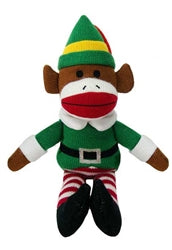 Holiday Sock Monkey Elf
