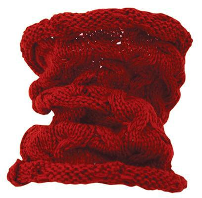Red Cable knit Doggie Neck Warmer