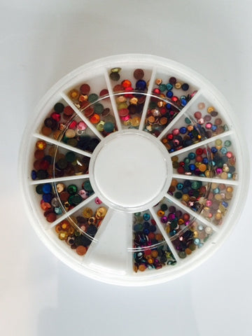 Multicolor Illusion Glitter Rhinestones