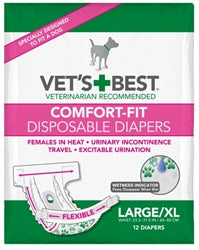 Comfort Fit Disposable Diapers - 12 Pack